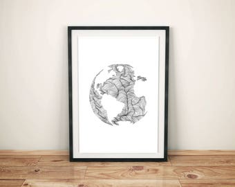 Wander the World - Print