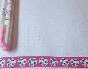 Pink Sugar Skull 30 in Washi Tape Sample