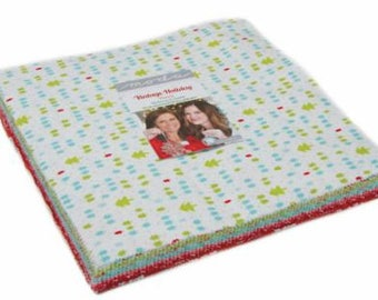 Vintage Holiday Flannel Layer Cake by Bonnie & Camille for Moda Fabrics