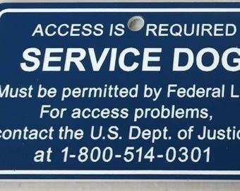 Service Dog Tag