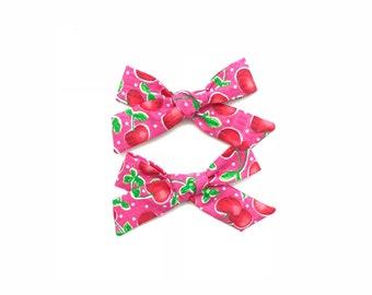 Cherries on Pink Handtied Piggy Set