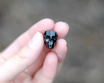 Swarovski Crystal Skull Bead / Jet Black / 19mm / BD005