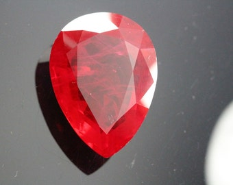Natural Clarity Enhanced African Ruby Pear Shape 29.40ct