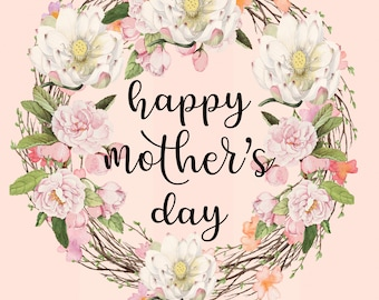 Mother's day card,  Mother's Day greeting card, Digital greeting card mother's day, Digital greeting card,