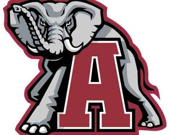 "Alabama Crimson Tide 4"" to 12"" FULL COLOR vinyl decal sticker"