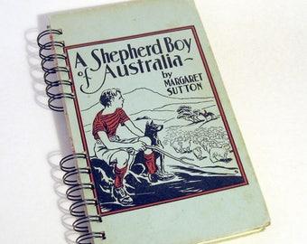 1941 AUSTRALIA TRAVEL JOURNAL Handmade Journal Vintage Upcycled Book Travel Australia Journal