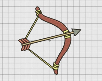 Bow and Arrow Archery Embroidery Design in 4x4 5x5 and 6x6 Sizes