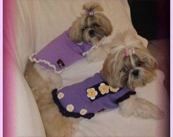we knit made to measure pet dog sweaters - other colors are possible - autumn-spring-summer