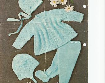 PDF Knitting Patterns,  Baby Knitting Pattern, Knitting Patterns, Digital download knit Pattern, Baby Pram Set Knitting Pattern