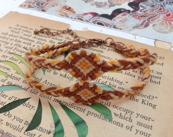 Natural double diamond friendship bracelet