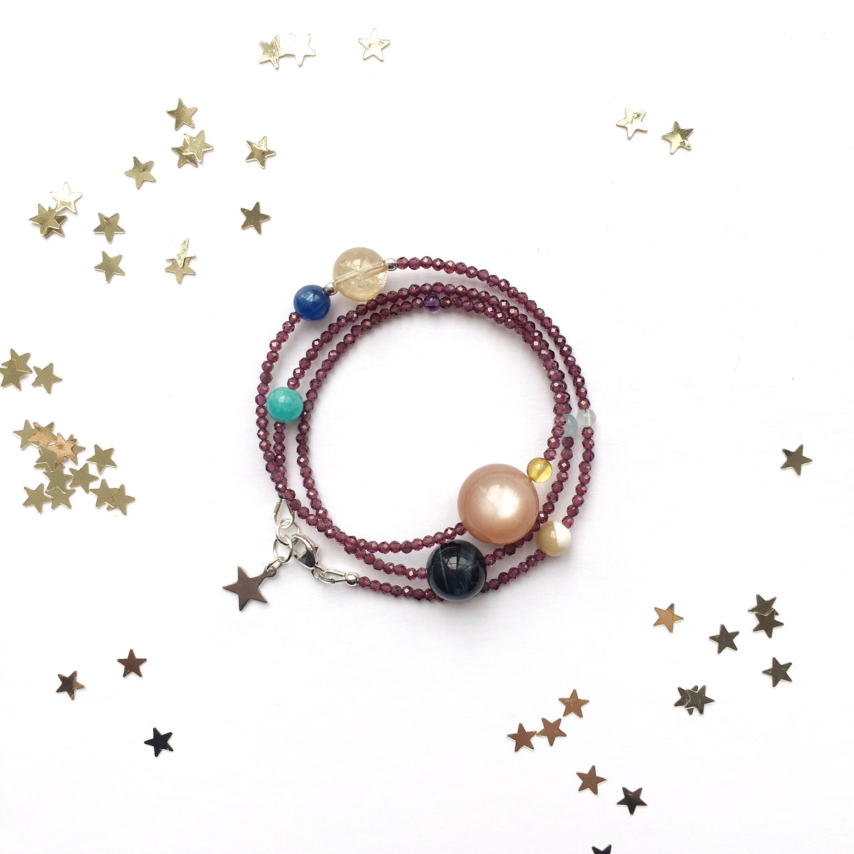 X Stars Guardian Garnet Birth Chart Bracelet Personalized