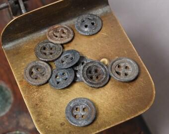 Set of 10 Antique original different buttons (n1)