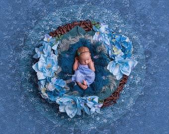 Newborn Lazur digital background/ newborn digital backdrop/instant download / digital prop