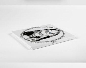 Terry Pratchett Discworld inspired DEATH Framed Print
