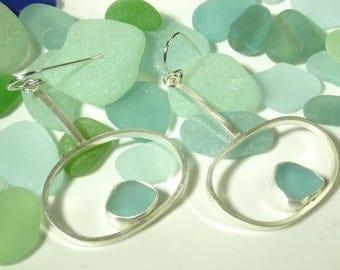 Sea Glass Orbit Earrings