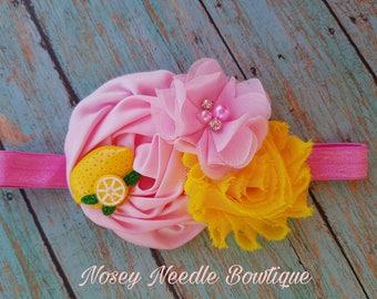 lemon headband, Lemon hair bow, lemon toddler headband, lemon baby headband, lemon baby hair bow, lemon toddler headaband, Lemon headband