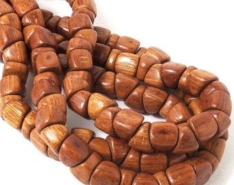 Bayong Wood, Kiss, 10mm, Side Drill, Small Pyramid, Triangle, Natural Wood Beads, Full Strand, 50pcs - ID 2111