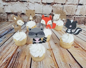 Woodland Creatures | Baby Shower | Cake Toppers | Baby Boy |