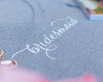 Bridesmaid Shirt, Bridesmaid Tee, T-shirt, V-Neck,  Bridesmaid Gift, Bachelorette Party, Photoshoot, Gifts For Bridesmaid, Bridal Shower
