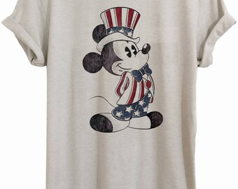 4th of July mickey, 4th of July, July 4th, Independence Day, USA, fireworks, 4th of July tee, USA flag, ID010