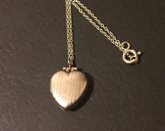 Sterling Silver Necklace with Art Deco Locket