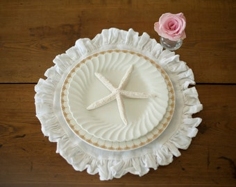 Placemats Ruffled Linen Placemats