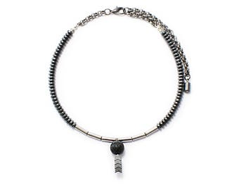 ONYX 101 Hematite Necklace / Choker