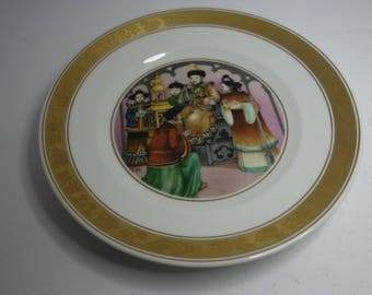 Royal Copenhagen plate; The Nightingale, Hans Christian Anderson