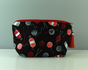 Knitting Notions Bag/ Pouch