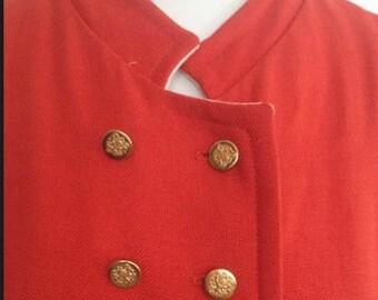 1950's 0r 1960's orange cape full length