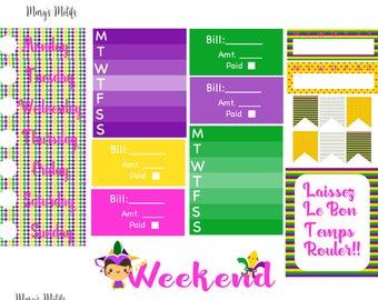 Mardi Gras Mini Sticker Kit