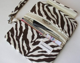 Animal Print Cell Phone Clutch