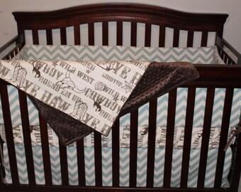 Cowboy Crib Bedding Ensemble
