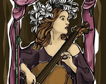 St. Cecilia Prayer Card for Musicians