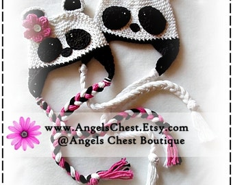 PANDA BEAR Boy and Girl Crochet Hat PDF Pattern Sizes Newborn to Adult Boutique Design - No. 35 by AngelsChest