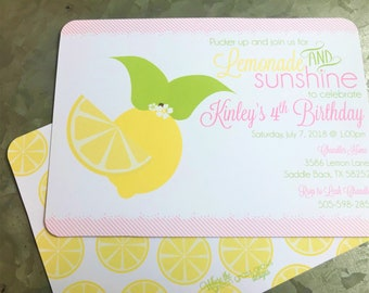 Lemonade Printable Invitation
