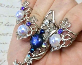 deep galaxy nailrings set, claws, nail jewels, galaxy nails
