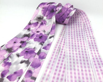 4 Widths|Floral Printed Grosgrain Printed Ribbon|Double Sided|Checkered|Colorful|Craft Supplies Bow Embellishment|Vibrant Colors|Gift Wrap