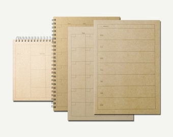 Muji Planner - weekly planner, monthly planner, binder planner, ring binder, ring planner, calendar, Muji notebook, Muji stationery, A5
