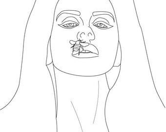 Lana Del Rey coloringpage