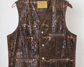 Old'n'Gold 03 men's leatherette waistcoat