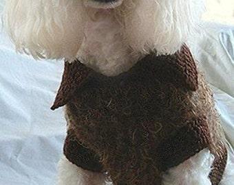 Crochet Pattern - dog sweater crochet pattern, dog shirt crochet pattern, dog clothing crochet pattern