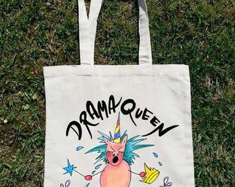 Drama Queen, Unicorn Tote Bag, Actress gift, Acting Gift, Unicorn Clothing, Unicorn Fashion, Unicornio, Unicorn Shopping Bag