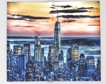 New York - Manhattan Landscape Throw Blanket, Super Soft Blanket, Home Decor, Luxorious Blanket, Office Throw, City Blanket, Dorm, Urban