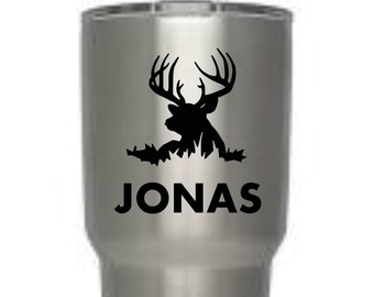 Deer decal, Hunting decal, Yeti decal, Tumbler decal, Vinyl decal, gifts for women, gifts for men, laptop, tablet, personalize, car
