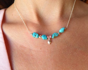 925 sterling silver turquoise necklace