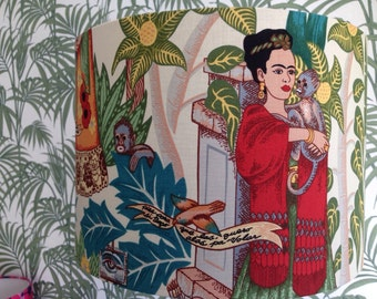 Frida Kahlo handmade lampshade, various sizes and coloured inners!