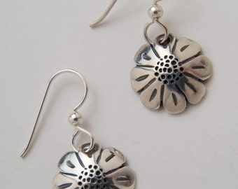 Recycled Coin Design Daisy Vintage US Dime Earrings