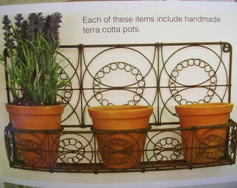 Wall Planter with 3 Pots