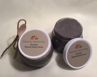 Body Scrub-Natural Sugar Scrub and Essential Oils-Serenity-Lavender-Vanilla